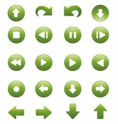 Media Player Remote Control Button Icon Set vector image