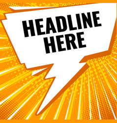 pop art banner vector image vector image