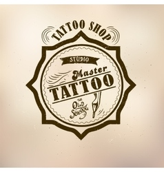 retro style tattoo master vector image