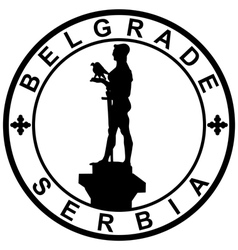 Stamp-Belgrade-Serbia vector image
