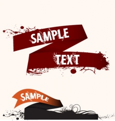 text frame ribbon vector image vector image