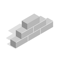 Brickwork icon isometric 3d style vector image vector image