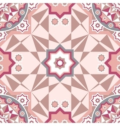 Decorative seamless pattern with round vintage vector image