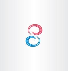 number eight 8 symbol design vector image