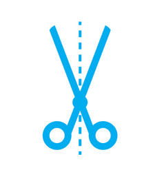 Scissors icon on white background scissors sign vector