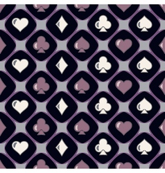 Seamless background with card suits vector image