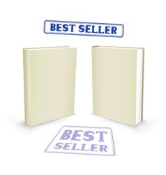 best seller book vector image