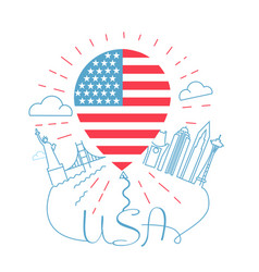 concept of traveling to usa vector image