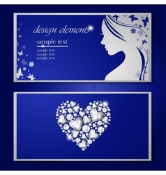 Flyer with a beautiful woman vector image