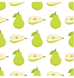 pattern with green pears vector image vector image