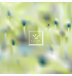 abstract blur floral concept background vector image