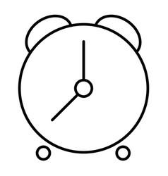 Alarm clock thin line icon time vector