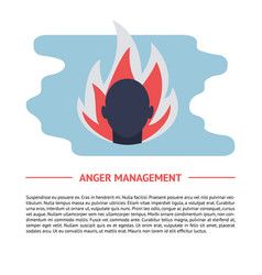 Anger concept in flat style with text vector
