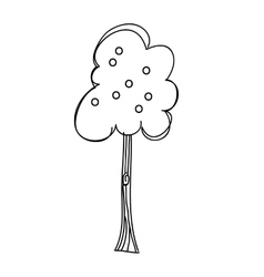 Apple tree silhouette isolated icon design vector