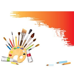 Artistic tools background vector