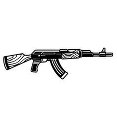 Assault kalashnikov rifle concept vector