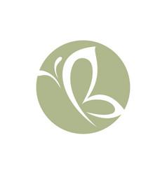 B letter butterfly logo vector