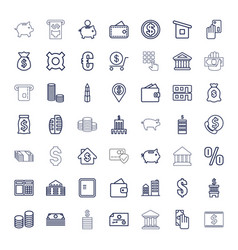 Bank icons vector