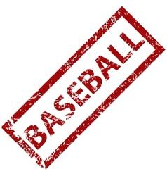 Baseball rubber stamp vector image
