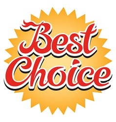 Best Choice Sticker vector image