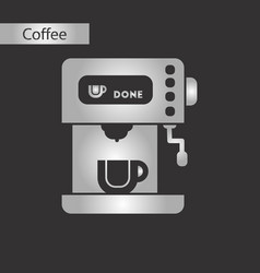 Black and white style icon of coffee electronic vector