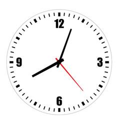 Blank clock face on white vector