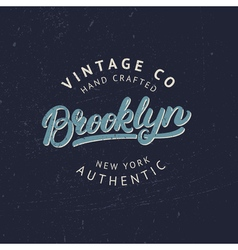 Brooklyn hand written lettering for tee print vector image