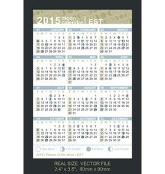 Calendar 2015 with Phases of the moon EST vector