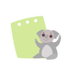 Coala bear holding green empty banner cute vector