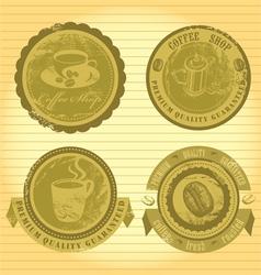 Coffee signs vector