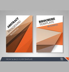 Corporate identity template brochure vector