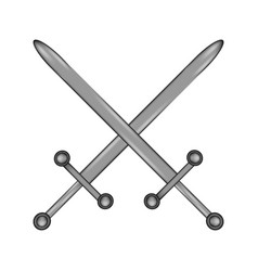 Crossed swords sign icon vector