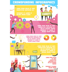 Crowdfunding infographics layout vector
