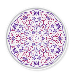 Decorative plate with arabic ornament vector