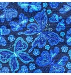 Denim seamless pattern Jeans background vector image