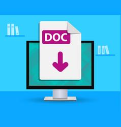 Design banner - upload doc file vector