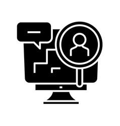 Digital research black icon concept vector