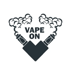 emblem of the electronic cigarette with vector image