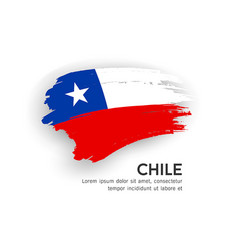 flag chile brush stroke design isolated vector image