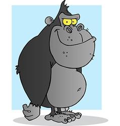 Gray Gorilla Cartoon Mascot Character vector