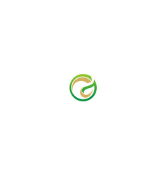 green leaf round abstract company logo vector image
