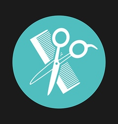 Hairdressing service design vector