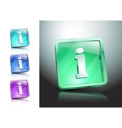 Info icon glossy blue button symbol vector image