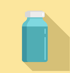 Insulin dose bottle icon flat style vector