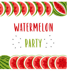 invitation banner for summer party with cute vector image
