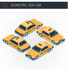 Isometric taxi car vector