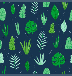jungle leaves pattern vector image