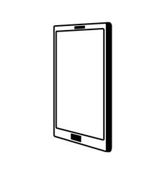 line icon cellphone cartoon vector image