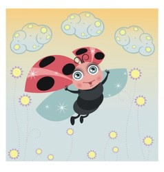 Little ladybird vector image