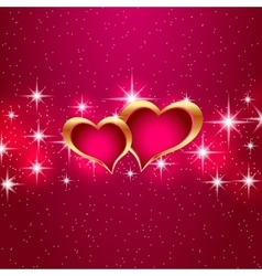 Love star background beautiful bright hearts vector
